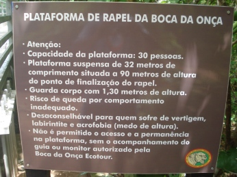 P)laca com as especificações da Ponte e do Rapel - Foto by ClauGrunow