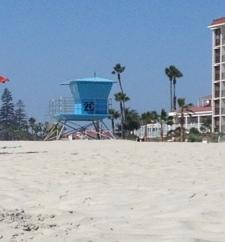 Praia em frente ao Coronado Hotel