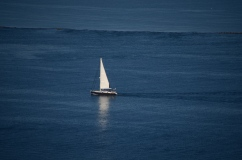 Barco no Mar visto do parque