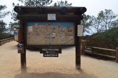 Placa que mostra as trilhas