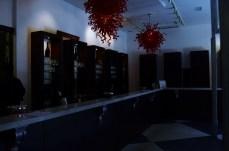 Interior da sala de provas.