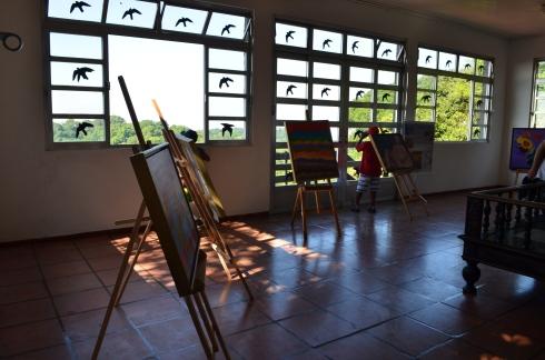 Pequeno museu que tem no alto da trilha