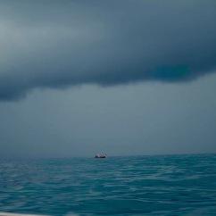 Tempestade em alto mar depois de Rock Carmel