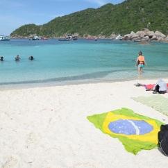 Turista Brasileiro deixando sua marca na Tailândia - Photo by Claudia Grunow
