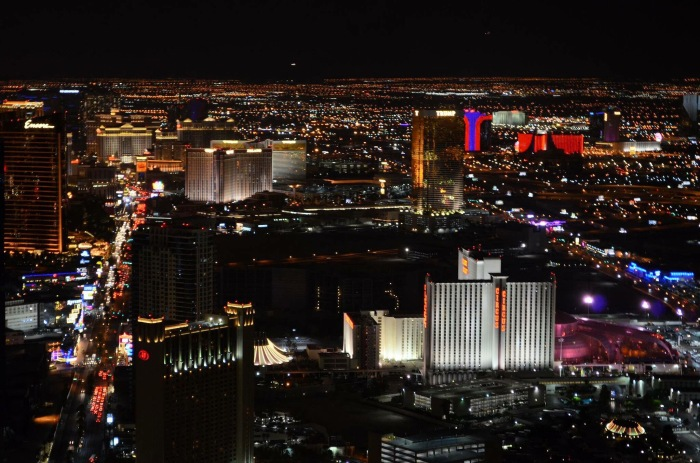 Vista de Las Vegas do Bar no Cassino Stratosphere -Photo by Claudia Grunow