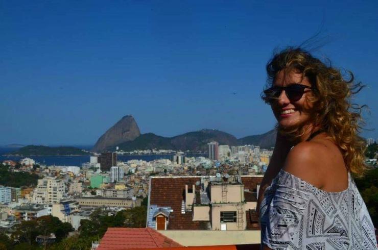 Eu em uma vista incrível do Rio de Janeiro- Photo by Claudia Grunow